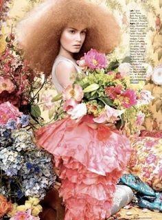 """Avant Garden"": Ruven Afanador for US Elle"