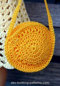ABC Knitting Patterns - American Girl Doll Sunshine Bag