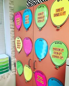 Another birthday display because this is genius! So cute and easy to change for each school year. Such a great idea from 💡🎈 Birthday Display In Classroom, Birthday Bulletin, 2nd Grade Classroom, Classroom Displays, Preschool Classroom, Classroom Themes, Preschool Activities, Classroom Design, Kindergarten