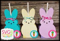 SVG Cutting Files: Easter Peeps Lollipop Covers!