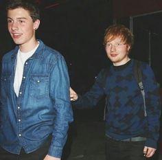 Shawn Mendes and Ed Sheeran