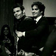 Ian hugging Dan.