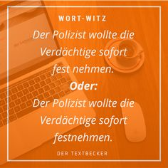 Ein fehlendes Leerzeichen und der Beschützer wird zum Täter. #text #schreiben #humor #lustig #witz #witzig #polizei #wortwitz #zitat Neon Signs, Humor, The Protector, Police, Passion, Writing, Quotes, Cheer, Humour