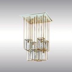 吊灯 By Woka Lamps Vienna 设计师Josef Hoffmann Suspended Lighting, Suspension Design, Downlights, Wind Chimes, Floor Lamp, Light Up, Art Deco, Table Lamp, Ceiling Lights