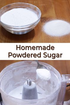 Ran out of powdered sugar? Never fear this homemade powdered sugar recipe is super duper easy to make with just 2 ingredients. Make Powdered Sugar, Granulated Sugar, All You Need Is, Cake Batter Truffles, Peanut Butter Bites, Aloo Recipes, Edible Cookie Dough, Homemade Donuts, My Dessert