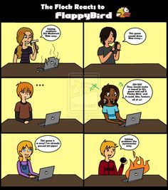 MR: Flock Reacts to Flappy Bird by AliAvian.deviantart.com on @deviantART