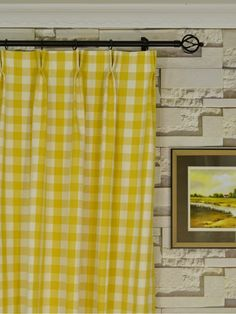 Moonbay Small Plaids Double Pinch Pleat Cotton Extra Long Curtain 108 120 Inch Cheery