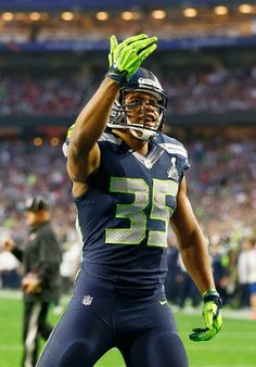 New England Patriots vs. Seattle Seahawks - DeShawn Shead #35 of the Seattle Seahawks reacts in the second quarter against the New England Patriots during Super Bowl XLIX at University of Phoenix Stadium on February 1, 2015 in Glendale, Arizona. (Photo by Kevin C. Cox/Getty Images)