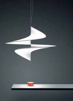 Curving contemporary pendant light design