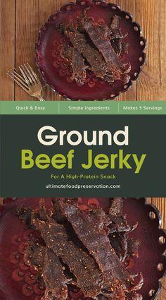 Hamburger Jerky Recipe Dehydrator, Keto Jerky Recipe, Jerky Seasoning Recipe, Ground Beef Jerky Recipe, Homemade Beef Jerky, Venison Jerky, Beef Jerky Marinade, Jerkey Recipes, Smoker Recipes