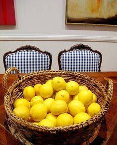 gingham chairs from black and spiro