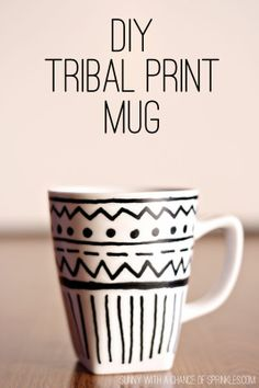 sunny with a chance of sprinkles diy tribal print mug - Coffee Mug Design Ideas