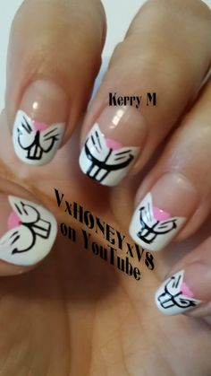 Having short nails is extremely practical. The problem is so many nail art and manicure designs that you'll find online Easter Nail Designs, Easter Nail Art, Nail Polish Designs, Cool Nail Designs, Bunny Nails, Nail Art Photos, Seasonal Nails, Finger Nail Art, Best Nail Polish