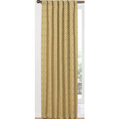 Waverly Home Classics 84 In L Geometric Citron Back Tab Curtain Panel Lowes