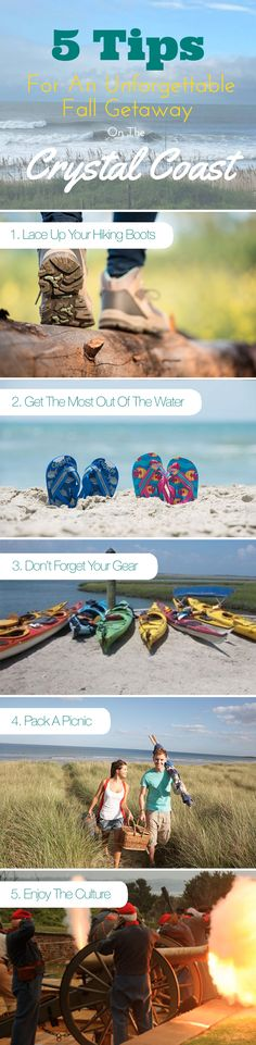 When summer is over, the fun is just getting started. Fall on Emerald Isle is an ideal time to visit. Between the picture-perfect weather and uncrowded beaches and town, you will love your relaxing getaway. Let us help you plan an unforgettable fall getaway on the Crystal Coast with these 5 Planning Tips.