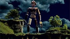 Ted Hughes - 'The Iron Man' (extract) animation of the beginning