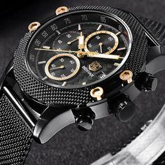 BENYAR Sport Fashion Watches Mesh & Rubber Brand Quartz Watch