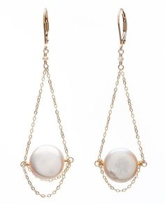 Glamorous! These earrings are delicate and beautiful and look equally good with a bridal gown or when worn with a pair of jeans, snazzy heels and your favorite