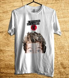 Luke Hemmings Shirt 5SOS Shirt 5 Second Of Summer T by MalaAkfa, $18.00