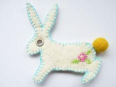 Felt Embroidered Bunny