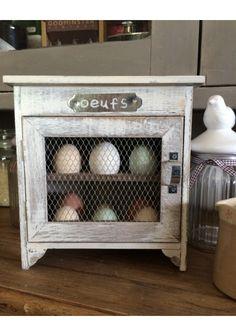 Wooden egg holder cupboard