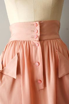 1940s skirt by DearGolden. It's perfect. Not the color, but everything else....