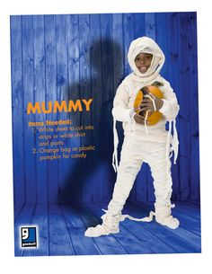 Are you ready for Halloween? A mummy is an easy DIY costume that you can throw together with items from your closet or a trip to Goodwill!