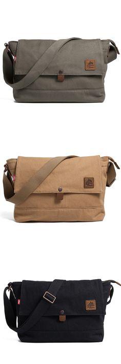 38$** Best Quality Mens Womens Vintage Canvas Shoulder Bag Handbag Messenger Sling School Bags (GY02) #canvas #bag #messenger #vintage
