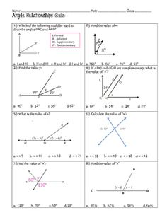 Right triangles and trigonometry graphic organizerreference sheets angle relationships quiz or review ccuart Choice Image