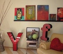 wall art - easily changed, with no holes in wall