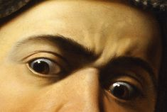 """""""Medusa"""" (details), 1598, Caravaggio."""