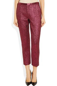 Marc Jacobs|Cropped metallic bouclé wool-blend pants|NET-A-PORTER.COM