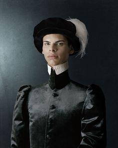 1503, Ritratto di giovane uomo con cappello piumato / Portrait of a young man with plumed hat.    by Christian Tagliavini