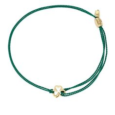 Kindred Cord Shamrock | Boston Celtics Shamrock Foundation ($21) ❤ liked on Polyvore featuring jewelry, gold plated, gold plated jewelry, alex and ani, boston celtics jewelry, alex and ani jewelry and cord jewelry
