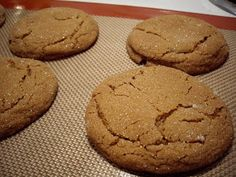 Clean Eating Molasses Spice Cookies!  I think these would work to roll out and make into gingerbread men...