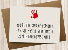 Funny Walking Dead Card Love card Card for boyfriend by SpicyCards