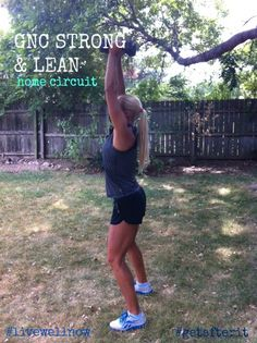GNC Strong and Lean workout