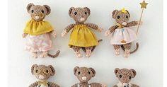Crochet : donner vie à une jolie famille de souris en crochetant vos chutes de fils de coton.