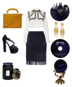 """blue suede"" by marifimarina ❤ liked on Polyvore featuring Illia, Isabel Marant, Prada, Bertoni, Voluspa and Gas Bijoux"