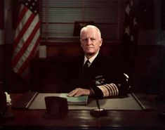Portrait of US Chief of Naval Operations Fleet Admiral Chester Nimitz.
