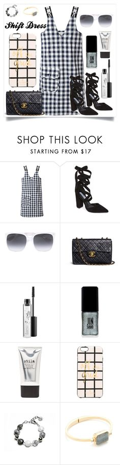 """""""Shift Dress..**"""" by yagna ❤ liked on Polyvore featuring Peter Jensen, Steve Madden, Gucci, Chanel, MAC Cosmetics, JINsoon, Stila, Kate Spade and Ringly"""