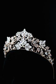 Bridal Crown Bridal Tiara Rose Gold Wedding Tiara by LuluSplendor