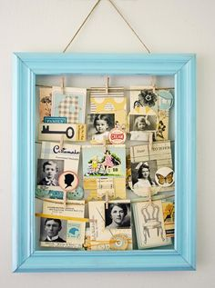 DIY clothesline picture frame