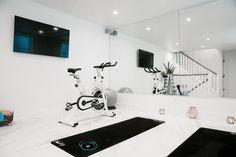 New home gym ideas basement how to build ideas - Little Glass Jar Home. - Home Gym Dream Home Gym, Gym Room At Home, Workout Room Home, Best Home Gym, Workout Rooms, At Home Workouts, Home Gyms, Workout Room Decor, Home Gym Garage
