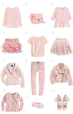 Dusty pink / Selección moda niña rosa empolvado primavera 2014 Tween Fashion, Little Girl Fashion, Diva Fashion, Toddler Fashion, Fashion Outfits, Kids Outfits, Cute Outfits, Angel Outfit, Princess Outfits