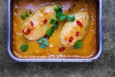 Kylling i mango-karrisaus