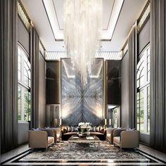 Neutral living room with a high ceiling. . . . . #interiordesign #interiordesignideas #interiors #designlovers #designinspiration #uniquepiece #luxuryworld #designlovers #designlove #bespokefurniture #kokettextiles #furnitureonline #creativedesign #decorlovers #homedesign #interiorstyling #interiorlovers #interiorstyle #furnituredesign #homefurniture #instafurniture #furnitureinterior #luxuryfurniture #theworldofinteriors #interiorinspiration #interiors #homedesign #decoration #bykoket