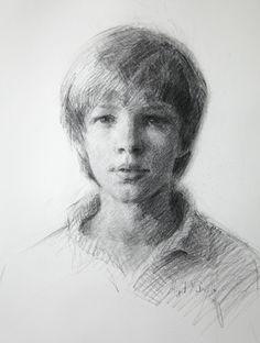 Abigail McBride - charcoal portrait