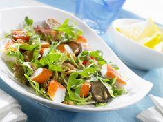 #Ensalada ligera y QUEMA GRASA de célery, surimi y rúgula #recipes