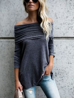 Look stunning in our Juliet - Off The Shoulder Top. Such a super soft and comfortable piece. Simple, yet sophisticated top. That's how you will look and feel in this beautiful top. 60% off today while supplies last!